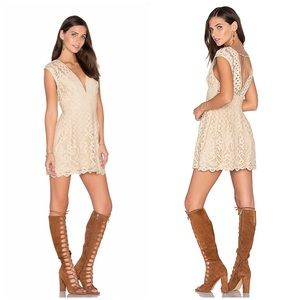 Free People One Million Lovers Ivory Lace Dress 0